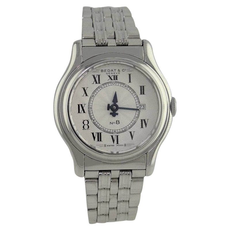 "Image of ""Bedat & Co. Stainless Steel Geneve Swiss High Polish 29mm White Dial"""