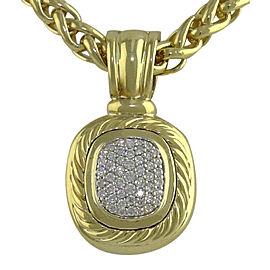 David Yurman 18K Yellow Gold Diamond Albion Pendant Charm