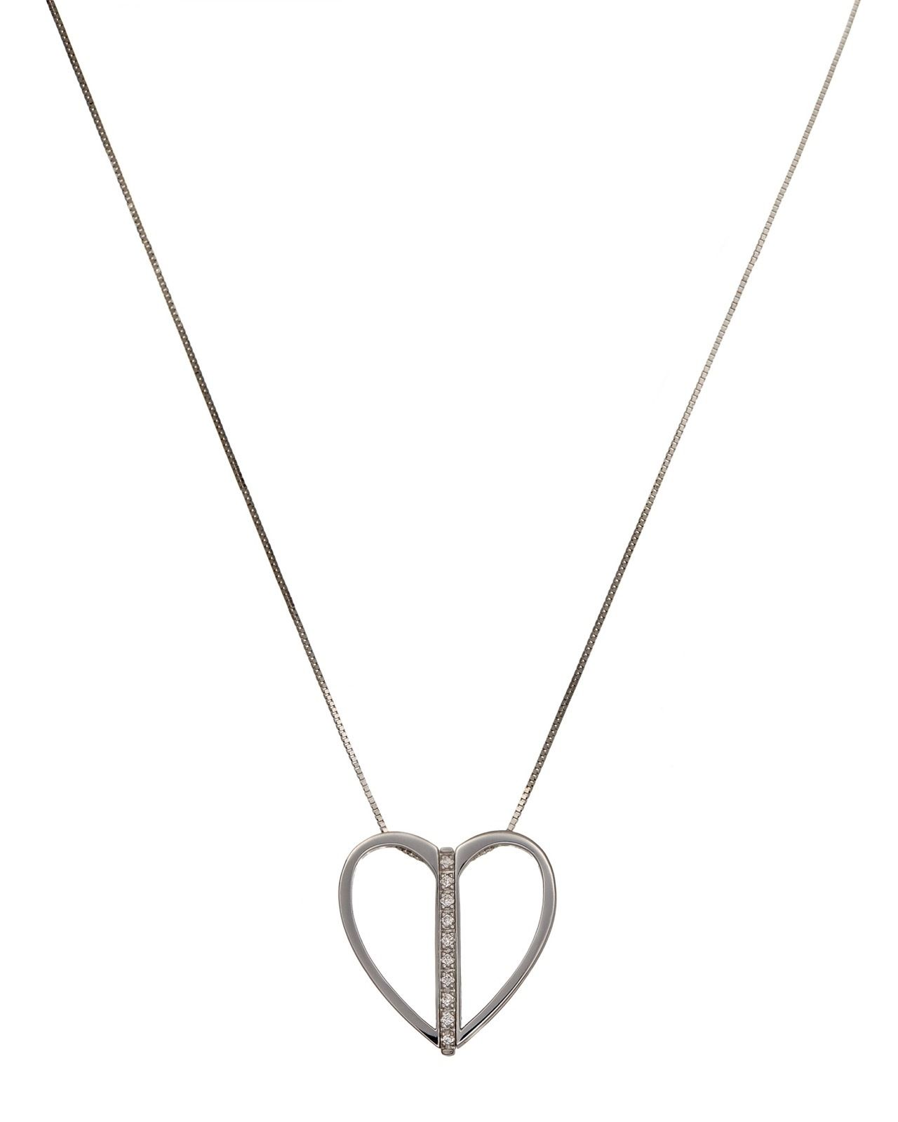 "Image of ""Bliss by Damiani 'Anima Gemella' 18K Gold Heart Diamond Necklace"""