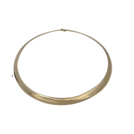Omega 14K Yellow Gold Dome Necklace Chain Ladies