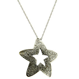 Levian 14K Yellow Gold 0.80 ct Diamond Star Necklace