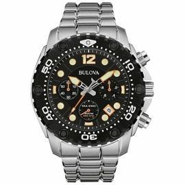 Bulova 98B244 Sea King Chronograph Date 300m WR Stainless Steel Bracelet Watch