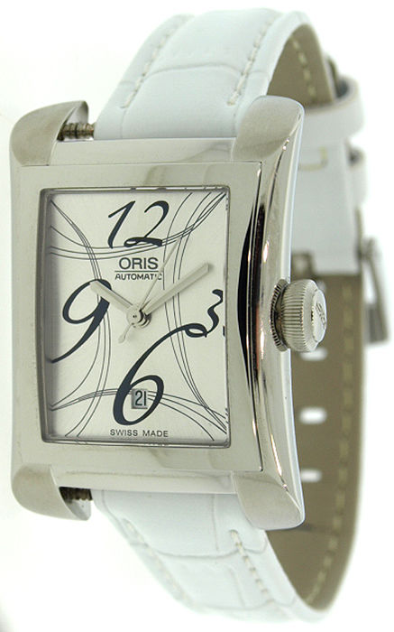 "Image of ""Oris 561.7620.40641S Miles Rectangular Automatic Women's Watch"""