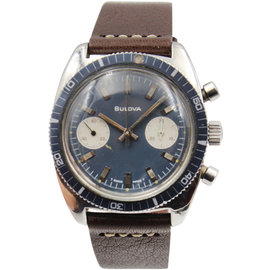 Bulova Chronograph Stainless Steel Vintage Mens Watch