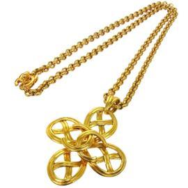 Chanel CC Logos Gold Chain Pendant Necklace
