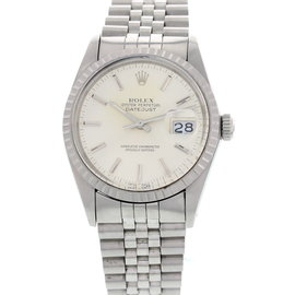Rolex DateJust 16030 Oyster Perpetual Stainless Steel Quickset Mens Watch