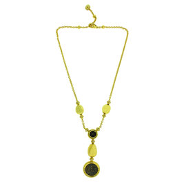 Bvlgari Monete 18K Yellow Gold and Diamond Antique Silver Coins Necklace