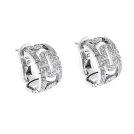 Bulgari 18K White Gold Diamond Parentesi Earrings
