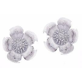 Tiffany & Co. Sterling Silver Dogwood Earrings