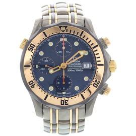 Omega 22968000 Seamaster Titanium 18K Rose Gold Mens Watch