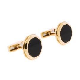 Bulgari 18K Pink Gold Octo Onyx Cufflinks