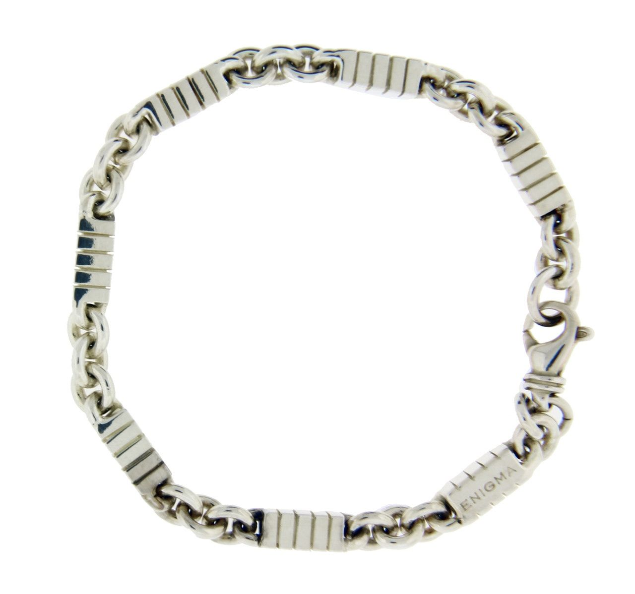 "Image of ""Enigma By Bulgari Sterling Silver Bracelet"""