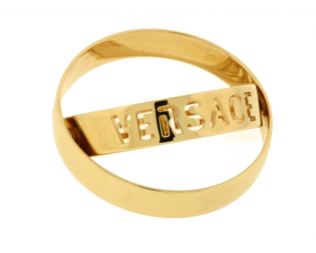 "Image of ""Versace 18K Yellow Gold Motion Band Size 11.5"""