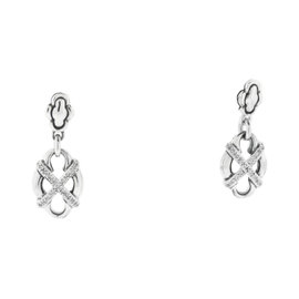 Scott Kay Diamond Sterling Silver Dangle Earrings