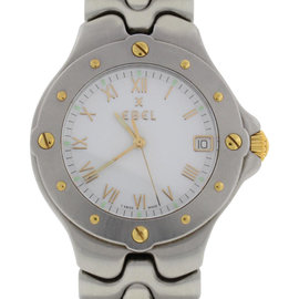 Ebel Sportwave E6187631 18K Yellow Gold & Stainless Steel 38MM Watch