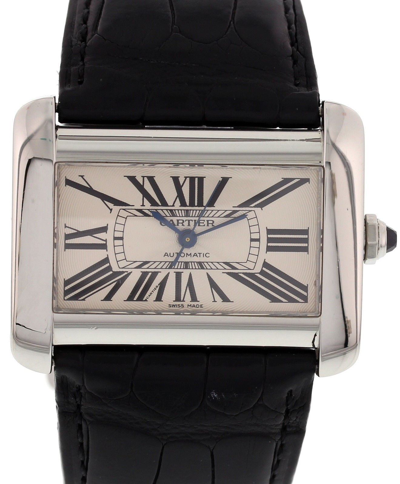 """Image of """"Cartier Tank Divan 2612 Stainless Steel Automatic Large Size Unisex"""""""