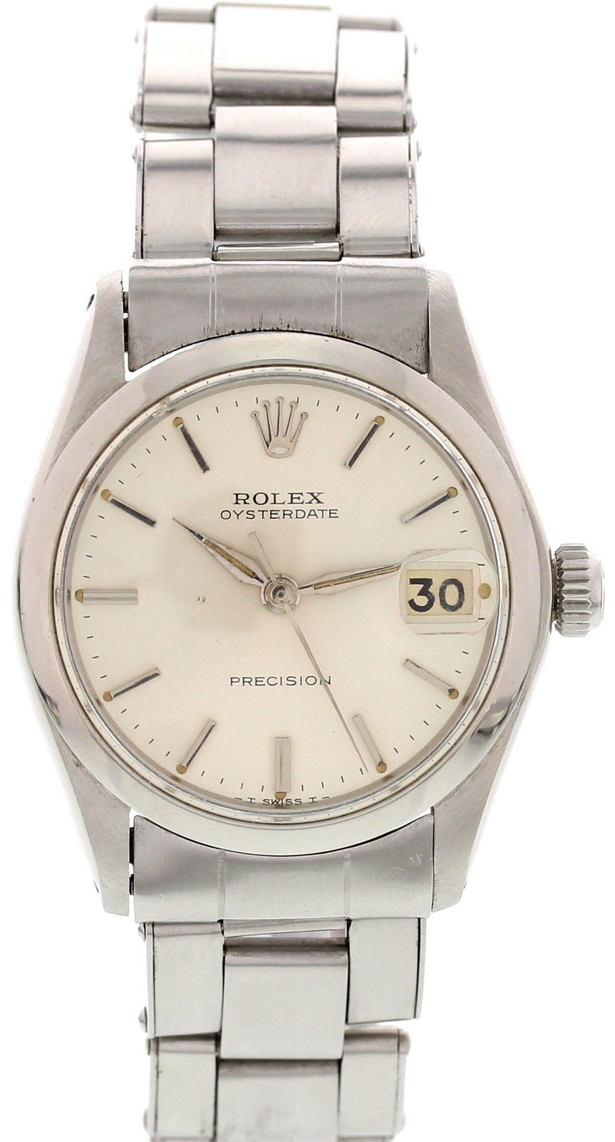 """Image of """"Rolex Oysterdate Precision 6466 Stainless Steel Vintage Mens Watch"""""""