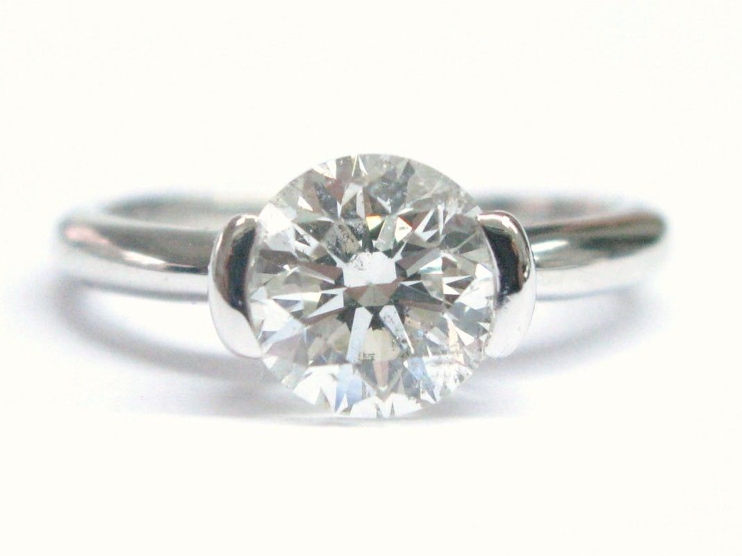 "Image of ""Ritani 18K White Gold & 1.77ct Diamond Solitaire Engagement Ring"""