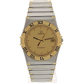 Omega Constellation 396.1070.1 18K Yellow Gold Stainless Steel Mens Watch