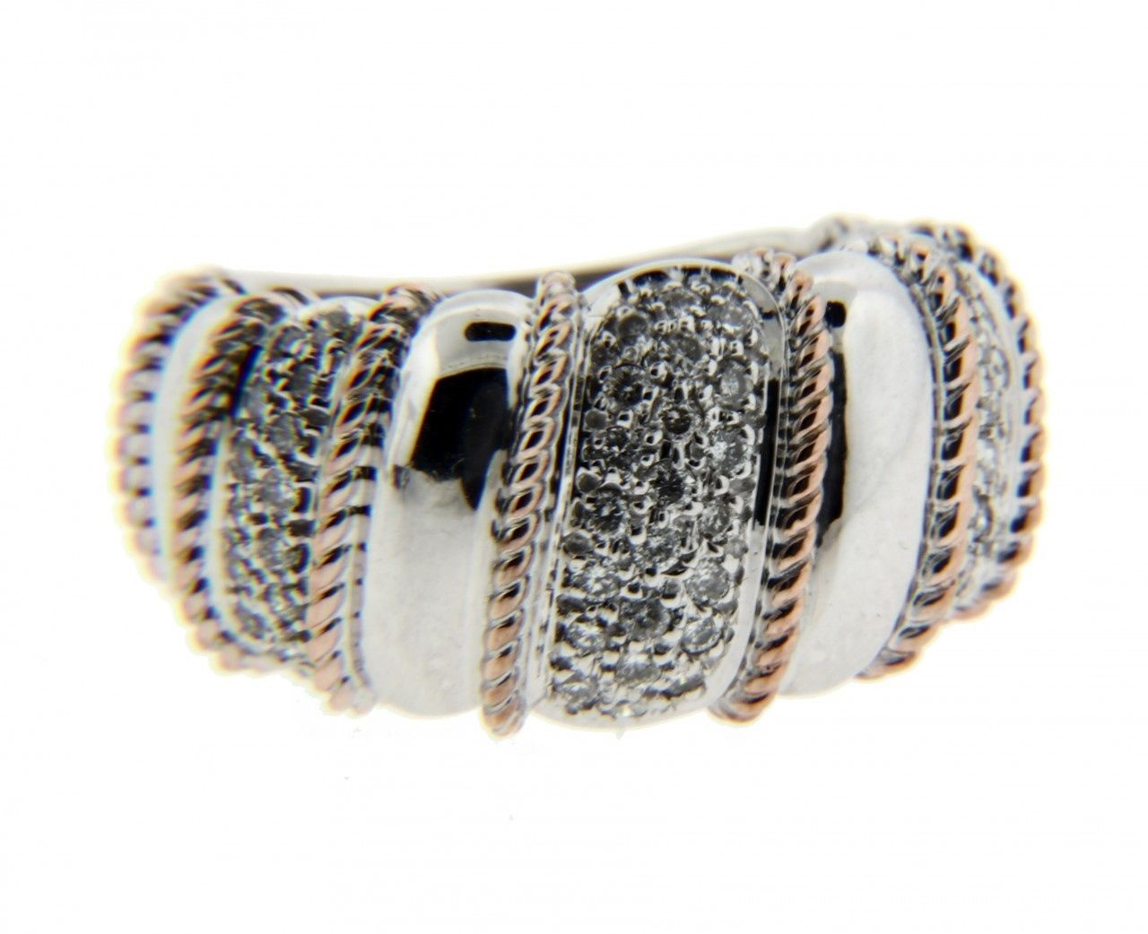 "Image of ""Sonia Bitton 14K White & Rose Gold Diamond Ring"""