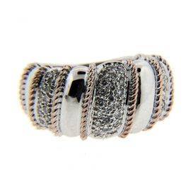 Sonia Bitton 14K White & Rose Gold Diamond Ring