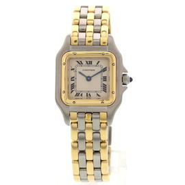 Cartier Panthere 18K Yellow Gold & Stainless Steel Womens Watch