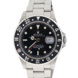 Rolex GMT-Master II 16710 Black Dial Steel Mens 40mm Watch