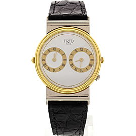 Fred Paris Reversible 18K Yellow & White Gold Watch