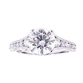 Tacori Crescent Diamond Platinum Ring Size 6.25