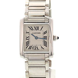 Cartier Tank Francaise 2403 18K White Gold Womens Watch