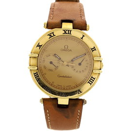 Omega Constellation 196.1070 18K Yellow Gold & Leather 34mm Watch