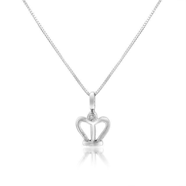 "Image of ""Bliss by Damiani 18K White Gold Special Moments Queens Crown 0.01ct"""