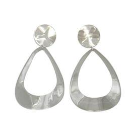 Ippolita 925 Sterling Silver Glamazon Wavy Goddess Tear Drop Earrings