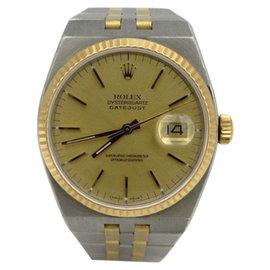 Rolex Datejust Oyster 17013 Quartz Two Tone Steel 18K Yellow Gold Mens Watch