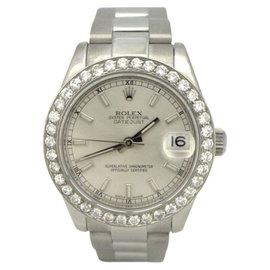 Rolex Datejust 178240 Stainless Steel & Diamond Bezel Silver Dial Unisex Watch