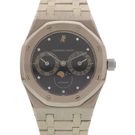 Audemars Piguet 18K White Gold Royal Oak 25594 Day-Date Moonphase Mens Watch