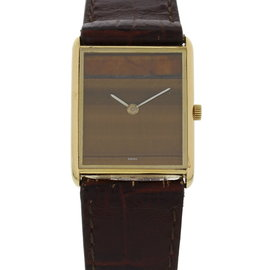 Vacheron Constantin Vintage Tiger's Eyes Dial 18K Yellow Gold Unisex 23mm Watch