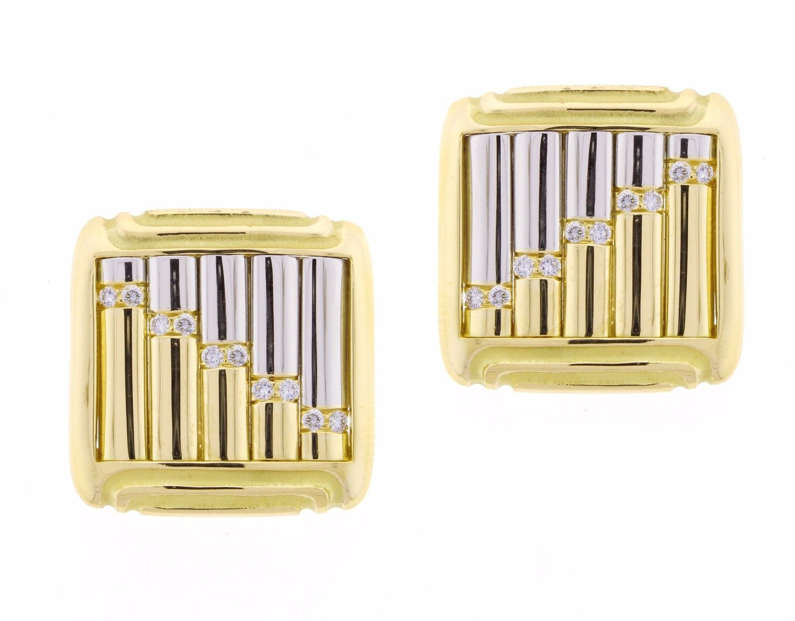 "Image of ""Michael Bondanza Carousel 18k Yellow Gold & Platinum 0.20 Ct Diamond"""