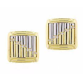 Michael Bondanza Carousel 18k Yellow Gold & Platinum 0.20 Ct Diamond Clip-on Earrings