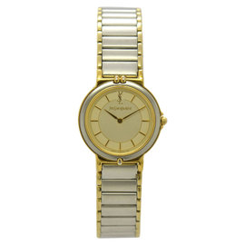 Yves Saint Laurent 2200-228481 Stainless Steel & Gold Plated 23mm Womens Watch