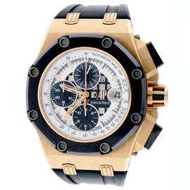 Audemars Piguet Royal Oak 26078RO.OO.D001VS.01 Rose Gold Rubens Barrichello 42mm Mens Watch
