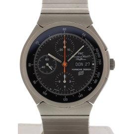 IWC Porsche Design 3700 Titanium Chronograph Titanium 42mm Mens Watch