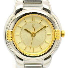 Yves Saint Laurent 5930-F91474 Stainless Steel & Gold Plated 22.5mm Womens Watch