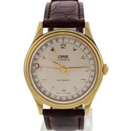 Oris Pointer Date 7403 18K Yellow Gold 34.5mm Mens Watch