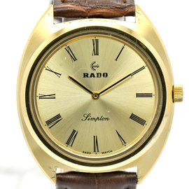 Rado Simplon Hand-Winding Gold Plated 34mm Mens Watch