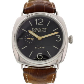 Panerai Radiomir 8 Days PAM190 OP6609 Stainless Steel & Leather 45mm Mens Watch