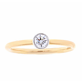 Tiffany & Co. 18k Rose Gold Platinum Diamond Ring Size 5.25