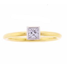 Tiffany & Co. 18k Yellow Gold Platinum Diamond Band Ring Size 4.5