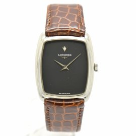 Longines Stainless Steel / Leather Hand-Winding 29.5mm Mens Watch