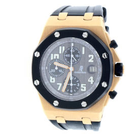 Audemars Piguet Royal Oak Offshore 18K Rose Gold Gray Dial Chronograph 42mm Mens Watch